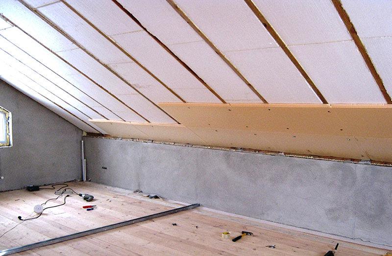 Утепление крыши дома пенополистиролом
